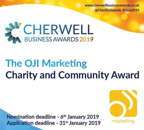 OJI Marketing sponsors the Charity and Community Award at the CBAs 2019